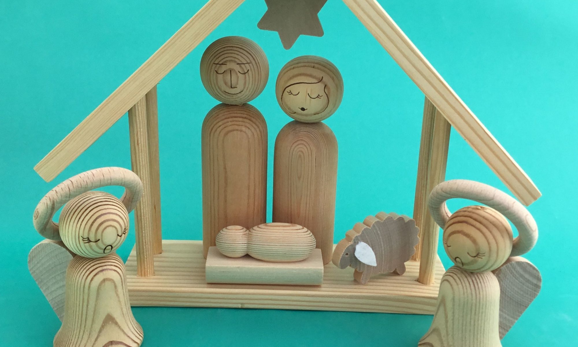 WOODEN NATIVITY FROM FINLAND