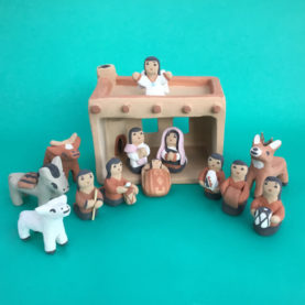 JEMEZ PUEBLO ADOBE NATIVITY BY SANTANA SEONIA