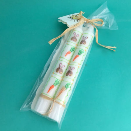 EASTER BUNNY AND CARROTS CANDLES BY ELKE STUART