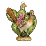 OLD WORLD ROADRUNNER GLASS ORNAMENT