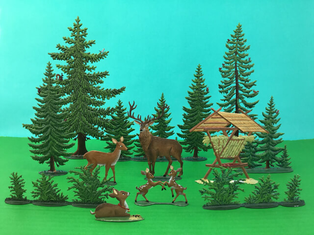 German Pewter Forest Scene