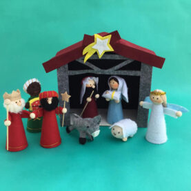 FELT AND WOOD NATIVITY FOR CHILDREN