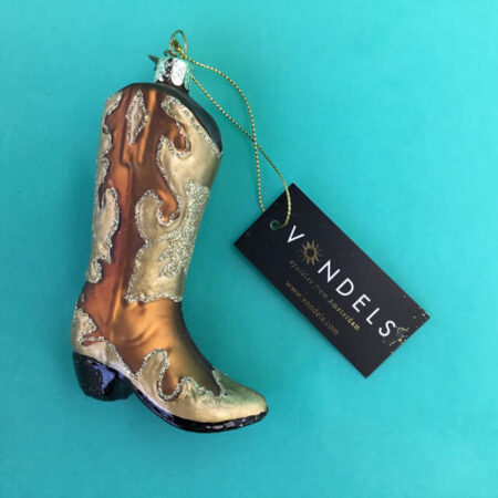VONDELS GLASS COWBOY BOOT GLASS ORNAMENT